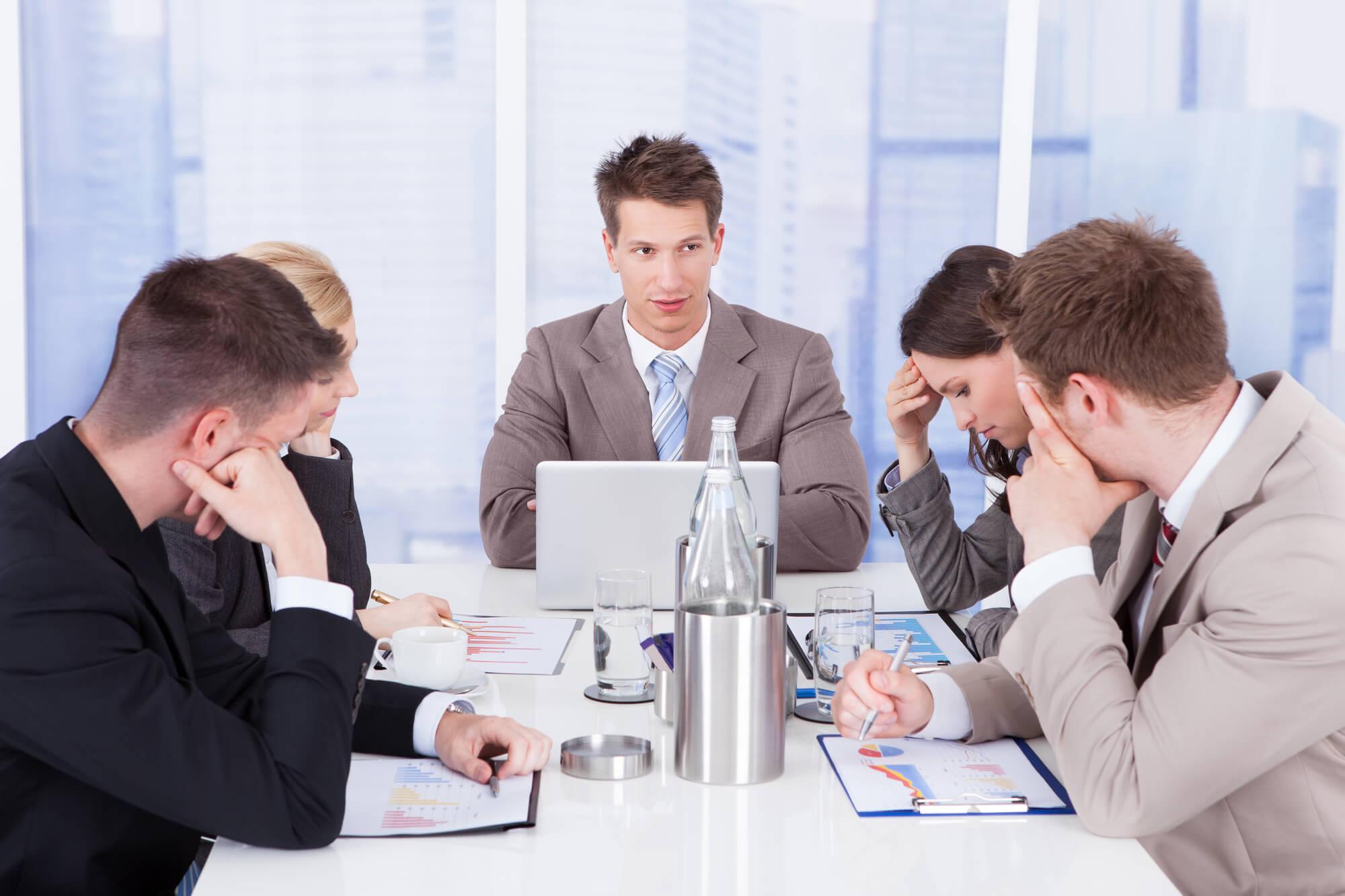 Reunião para investir em comunicação interna
